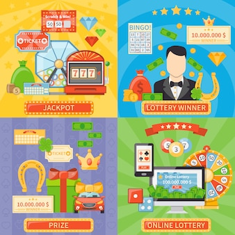 Lotteria e concetto di posta