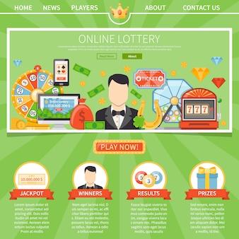 Lotteria e jackpot modello di una pagina