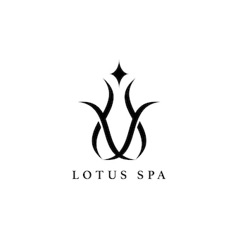 Lotus spa design logo vettoriale