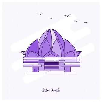 Lotus temple punto di riferimento viola