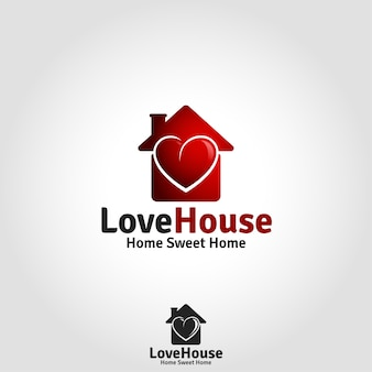 Love house logo - lovely family live place