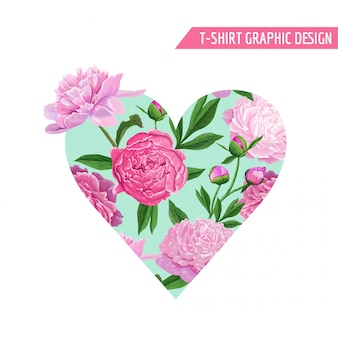 Love romantic floral heart design