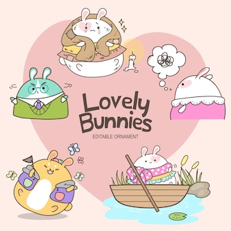 Lovely bunnies mizu