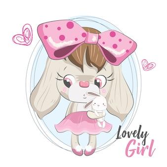 Lovely doggy con la sua bambola