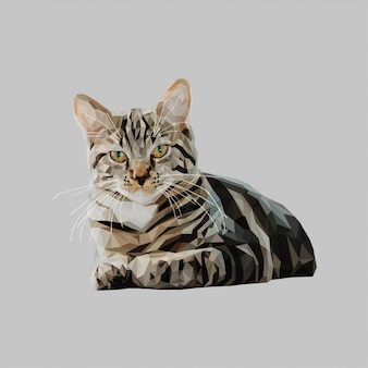 Low poly art cat