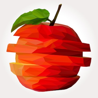 Lowpoly of delicious apple slice