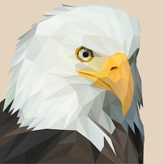 Lowpoly vettore di american eagle