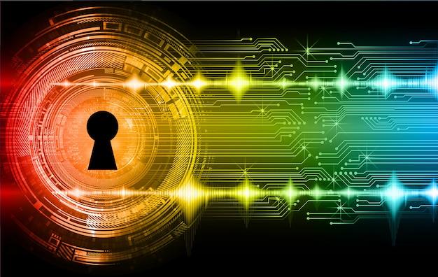 Lucchetto chiuso sfondo digitale, sicurezza informatica