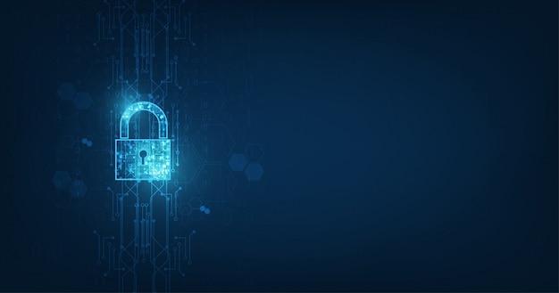 Lucchetto con icona keyhole nella sicurezza dei dati personali.