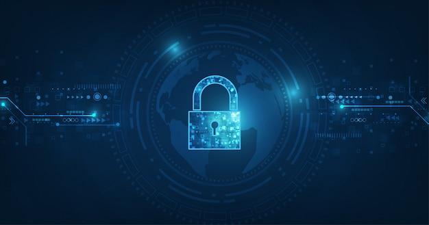 Lucchetto con serratura, sfondo di protezione dei dati personali