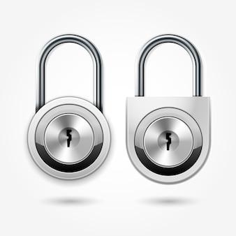 Lucchetto moderno - icona della serratura della porta dell'armadio rotondo per chiave piatta, armadietti scolastici