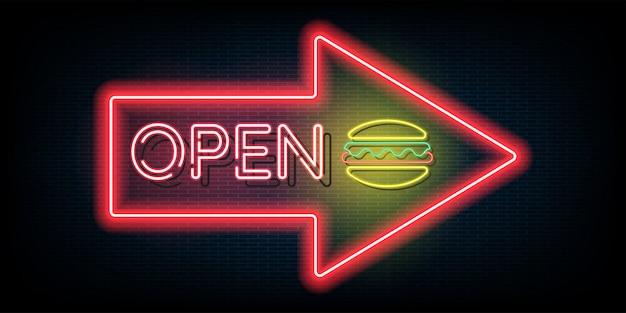 Luce al neon aperta