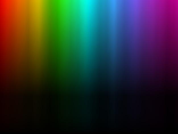 Luce arcobaleno colorato incandescente