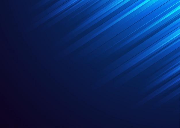 Luce brillante astratta su fondo blu