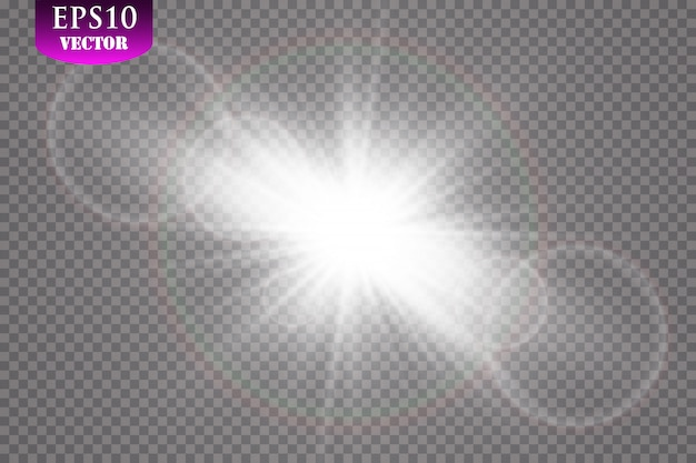 Luce del sole trasparente speciale effetto riflesso lente.