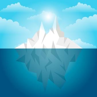 Luce diurna del paesaggio dell'iceberg