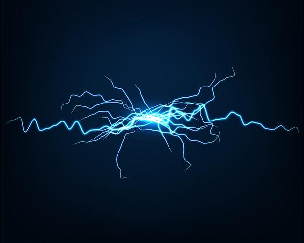 Luce elettrica di vettore astratto del fondo.