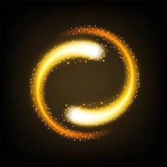 Luce gialla rotante lucida con scintillii
