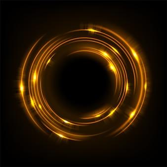 Luce gialla rotante lucida