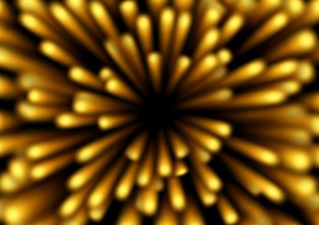 Luce scintillante d'oro che piove