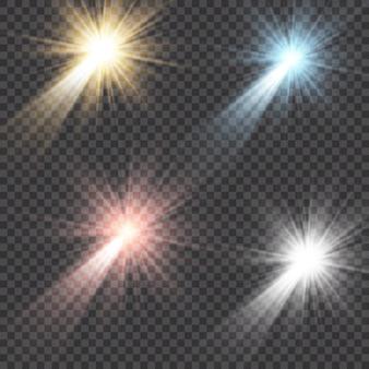 Luce solare trasparente speciale effetto riflesso lente.