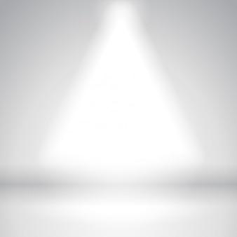 Luce spot in fondo studio