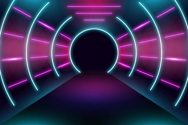 Luci al neon di design di sfondo