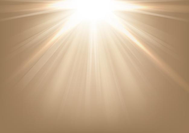 Luci che brillano su sfondo luminoso