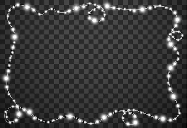 Luci di natale isolati su sfondo trasparente