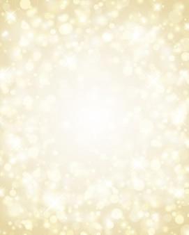 Luci dorate di scintillio di natale di incandescenza luminosa, illustrazione magica del bokeh