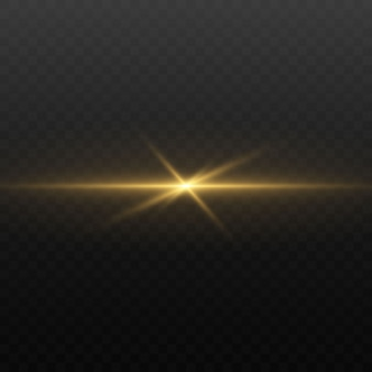 Luci e scintille. luci dorate astratte isolate su un trasparente