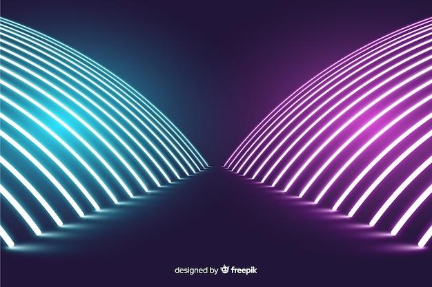 Luci moderne al neon fase sfondo