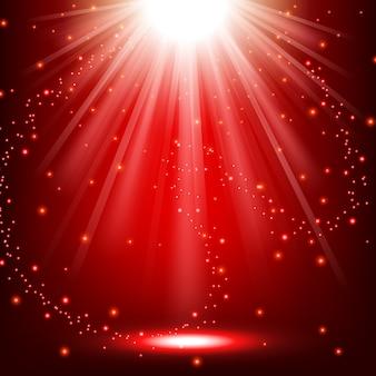 Luci rosse che brillano sullo sfondo