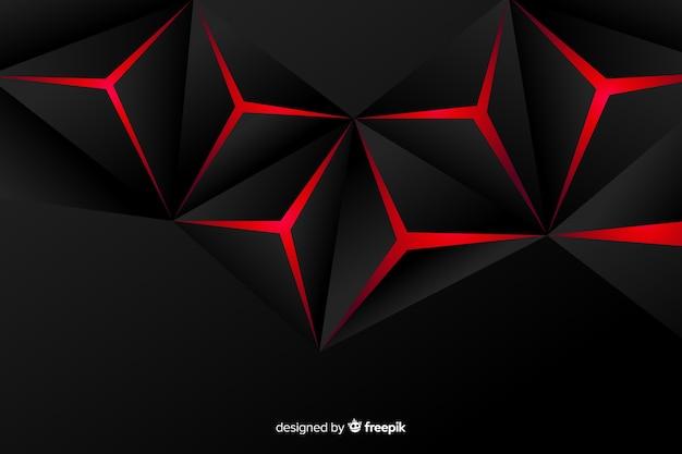 Luci rosse geometriche di sfondo