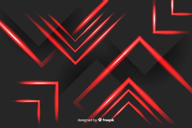 Luci rosse sistemate di rettangolo su fondo nero