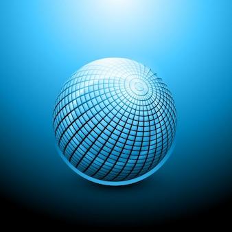 Lucido 3d sfera blu