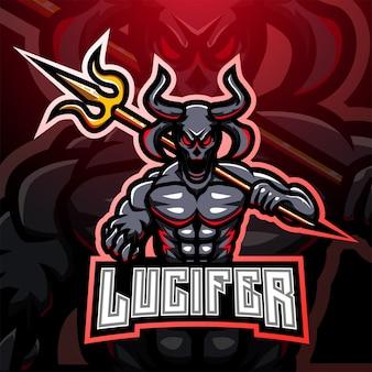 Lucifer esport mascotte logo design