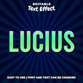 Lucius green text effect style