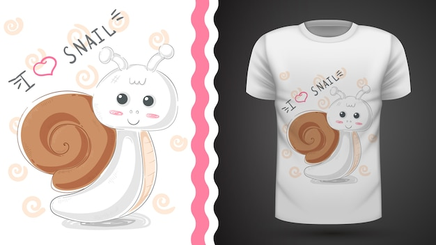 Lumaca carina - idea per t-shirt stampata