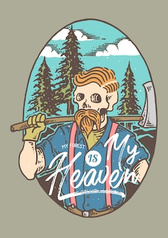 Lumberjack woodman