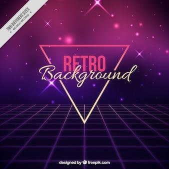 Luminoso astratto sfondo in stile anni ottanta
