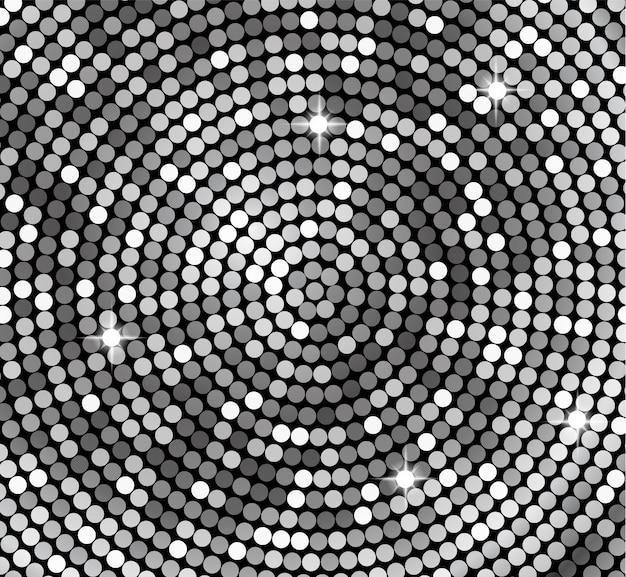 Luminoso sfondo argento rotonda