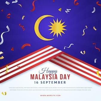 Luna e nastri di giorno della malesia
