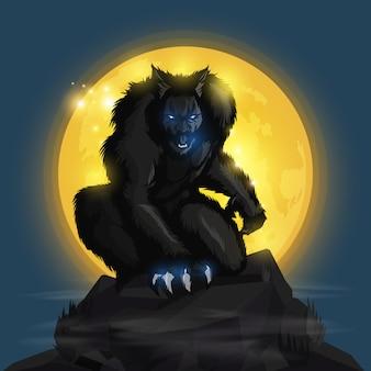 Luna lupo mannaro