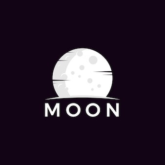 Luna minimalista logo vettoriale
