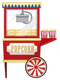 Luna park del venditore per popcorn