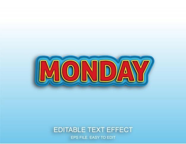 Lunedì effetto stile testo