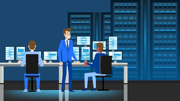 Luogo di lavoro di data center engineer