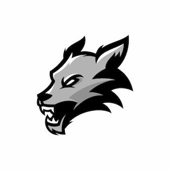 Lupo - vector logo / icona illustrazione mascotte