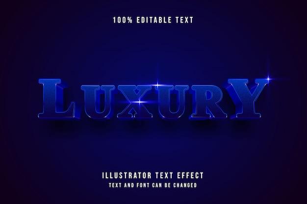 Lusso, 3d modificabile effetto testo gradazione blu moderno stile ombra